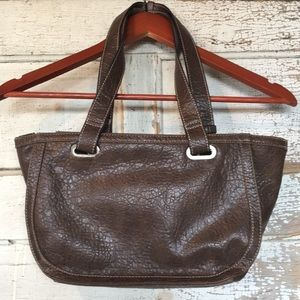 ->3 for $15  Brown Faux Leather Bag Tommy Hilfiger